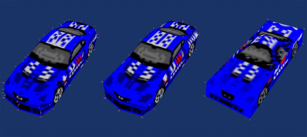 The 3 LoD models for the 1999 Stallion SR A
